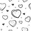 Royalty-Free Stock Vectorielle: Seamless Valentine heart vector background