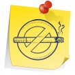 Remember to quit smoking - Stock Vector