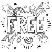 Icono gratis sobre fondo retro pop — Vector de stock
