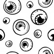 Stock Vector: Seamless eyeball vector sketch