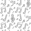 Stock Vector: Seamless music notes vector background