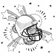 Excitement about football sketch — Imagens vectoriais em stock