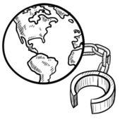 Toprak kroki bağlı — Stok Vektör