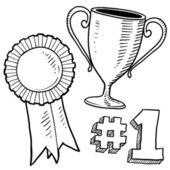 Croquis de trophée et de récompenses — Vecteur