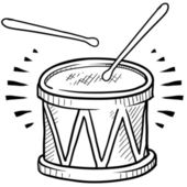 Snare drum sketch — Stock Vector