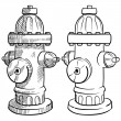Stock Vector: Fire hydrant sketch