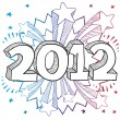 2012 New Year's sketch — Stock Vector