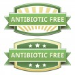 Antibiotic free food label — Stock Vector #13988246