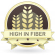 Постер, плакат: High in fiber food label