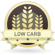 Low carb food label — Stock Vector