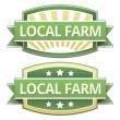 Local farm food label — Stock Vector