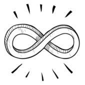 Schizzo di simbolo di infinito — Vettoriale Stock