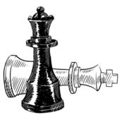 Chess pieces sketch — Vettoriale Stock