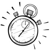 Esboço de cronômetro retrô — Vetorial Stock