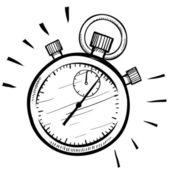 Retro stopwatch schets — Stockvector