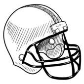 Football helmet sketch — Stock Vector