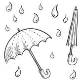 Umbrella or parasol sketch — Stock Vector