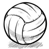 Volleyball sketch — Stock Vector
