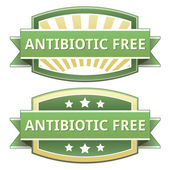 Antibiotic free food label — Stock Vector