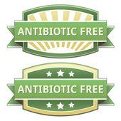 Antibiyotik ücretsiz gıda etiketi — Stok Vektör