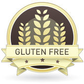 Gluten free food label — Stock Vector