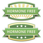 Hormone Free food label — 图库矢量图片
