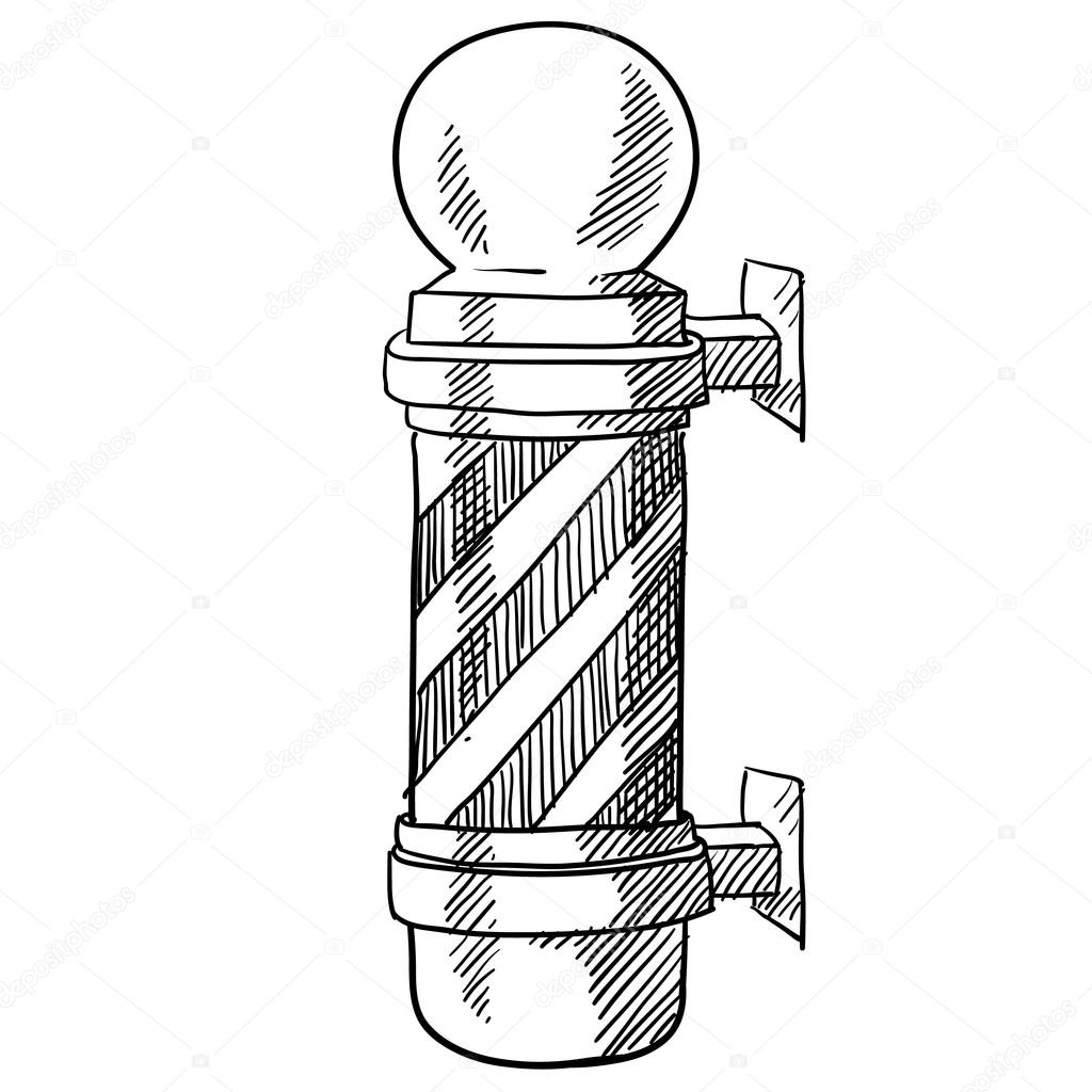 Barbers Pole sketch — Stock Vector © lhfgraphics #13981711