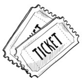 Událost lístek skica — Stock vektor