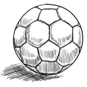 Bosquejo de balón de fútbol — Vector de stock