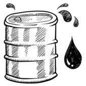 Oil barrel sketch — Stock Vector