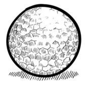 Golf ball sketch — Stock Vector