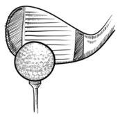 Croquis de tee de golf — Vecteur