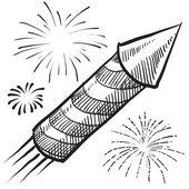 Fireworks sketch — Stock Vector