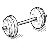 Weightlifting sketch — Stock Vector