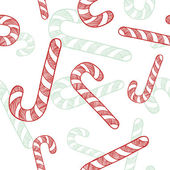 Seamless candy cane vector sketch — Stockvektor