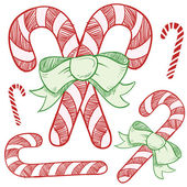 Candy canes sketch — Stock Vector