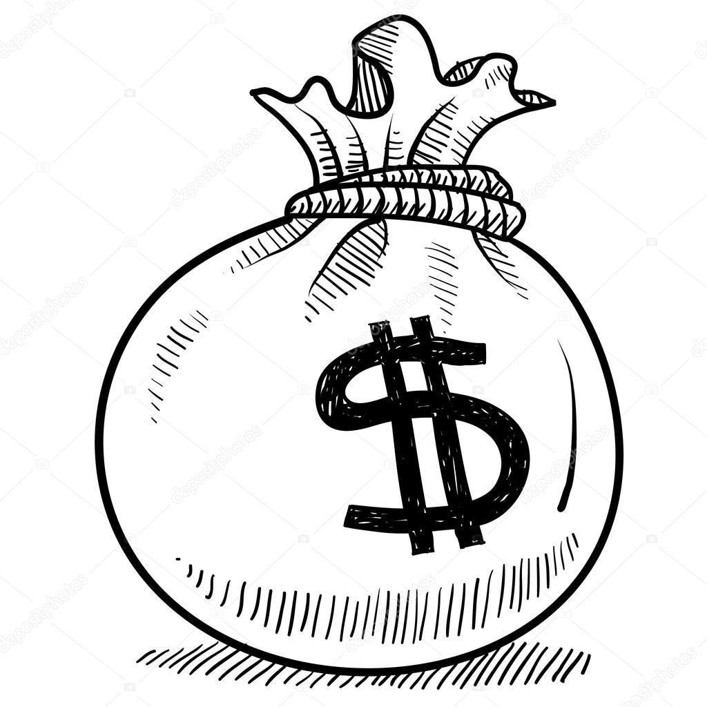 money bag sketch stock vector  u00a9 lhfgraphics 14135446 money bag clipart black and white money bag clipart