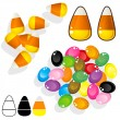 Candy corn and jelly beans sketch — Stock Vector #14171485
