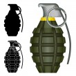 Pineapple hand grenade vector illustration - Stock Vector