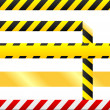 Stock Vector: Blank caution tape vector