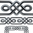 Royalty-Free Stock Vector Image: Seamless celtic rope vector borders and patterns