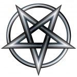 Metallic pentagram sketch — Stock Vector #14171730