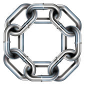 Seamless chain link vector border — Stock Vector