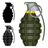 Pineapple hand grenade vector illustration — Stock Vector