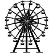 Ferris wheel vector silhouette — Stock Vector