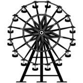 Ferris wheel vector silhouette — Stock Vector