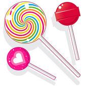 Lollipops and suckers vector — Stock Vector
