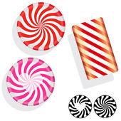 Illustration assortiment bonbons durs — Vecteur