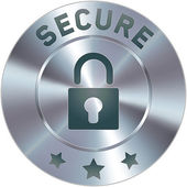 Modern secure icon — Stock Vector