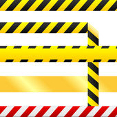 Blank caution tape vector — Vecteur